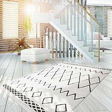 Teppich Hochflor modern im Ethno-Style in