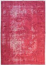 Teppich Hochwertig Handgewebt Classico Klassisch Meliert rosa creme Wohnzimmer Größe 120/170 cm