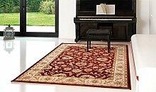 Teppich Hochwertig Klassisch Sitap Teppich aus Wolle Position Klassischer Teppich Wohnzimmer Jamal 1520-c78r Cm.80X140 ro