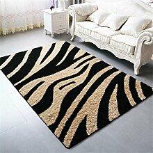 Teppich Im europäischen Stil Verdickte Couchtisch Teppich Wohnzimmer Schlafzimmer Bedside Teppich Lebensmittel ( Farbe : D , größe : 1.6*2.3m )