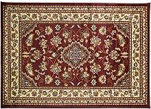 Teppich im Perser-Stil, Blumenmuster, traditioneller Teppichläufer, Rot, 60x 110cm, klein