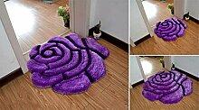 Teppich im Rosendesign, Hochflor, für