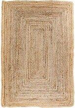 Teppich in Beige Jute