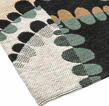 Teppich in Blau, Grün und Grau 90x150
