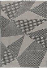 Teppich in Grau/Cremefarben
