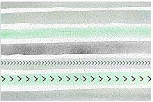 Teppich in Mintgrün und Grau mit
