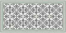 TEPPICH In-/ Outdoor 70/140 cm Grau, Grün, Weiß