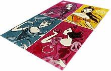 Teppich in Rosa/Gelb/Blau Disney Princess