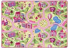 Teppich in Rosa/Gelb/Grün Snapstyle