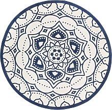 Teppich Jana, blau (Ø 90 cm)
