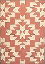 Teppich JAY Altrosa Creme Größe 120 x 170 cm
