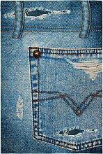 Teppich Joel, blau (60/90 cm)