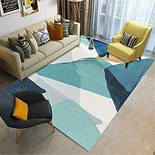 Teppich jugendzimmer Blaues und graues einfaches