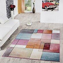 Teppich Karo Multicolour Bunt Kurzflor Designer Model Top Preis!!!, Größe:120x170 cm