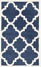 Teppich Kathy in Marineblau/Weiß Canora Grey
