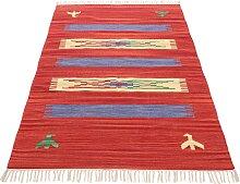 Teppich, Kelim Dodi, carpetfine, rechteckig, Höhe