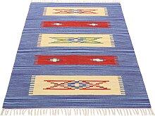 Teppich, Kelim Tara, carpetfine, rechteckig, Höhe