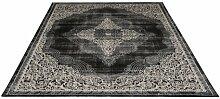 Teppich Kellie in Schwarz/Grau