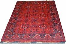 Teppich Khal Mohammadi Pakistan ca. 195 x 150 cm · Rot · handgeknüpft · Schurwolle · Klassisch · hochwertiger Teppich · S097578
