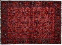 Teppich Khal Mohammadi Pakistan ca. 230 x 165 cm · Rot · handgeknüpft · Schurwolle · Klassisch · hochwertiger Teppich · S097576