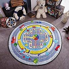 Teppich Kinder runde Matten Baumwolle kann Spielzeug kriechende Matte (150 * 150cm) ( Farbe : 4 , größe : 150*150cm )