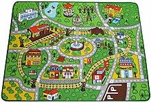 Teppich Kinder-Teppiche Spielplatz Auto-Decke Kinder Lernen Teppiche / Kinder-Teppiche Jungen Mädchen Kinderzimmer / Schlafzimmer / Spiele Zimmer / Klassenzimmer Play Mat, rechteckig, 100cm * 130cm ( Farbe : A , größe : 130*100cm )