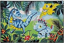 Teppich Kinderteppich Dinosaurs Dinosaurier Spielteppich 80x120 cm grün blau