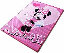 Teppich - Kinderteppich - Spielteppich mit Motivauswahl (Minnie)