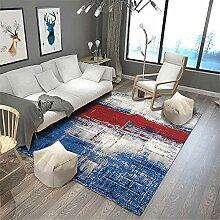Teppich kinderteppich waschbar Blauer roter Grauer