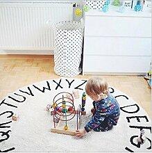 Teppich Kinderzimmer Baby, Teppich, weich, angenehmer Sitz für das Kind, Kofferraumwanne, schönes Spiele für alle kleinen Kinder, gut für Dekorieren Ihr Haus Romantische (Durchmesser 120cm)