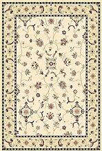 Teppich Klassisch, 140x200 cm, Schurwolle, Weiß , Beige !!! (140 x 200 cm)