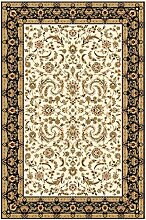 Teppich Klassisch , 200x300 cm, Schurwolle, Beige, Schwarz !!! (200 x 300 cm) (Beige)
