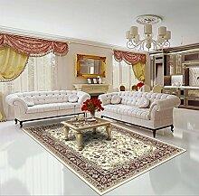 Teppich Klassisch 250 x 350 cm, Schurwolle, beige, rot !!! (250x350 cm).