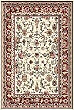 Teppich Klassisch 250 x 350 cm, weiß, rot, Schurwolle !!! (250x350 cm)