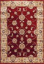 Teppich Klassisch artek2rot Blumen und Beige Größen 140x 200cm Wohnzimmer und Schlafzimmer