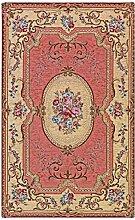 Teppich Klassisch Aubusson Pink waschbar in