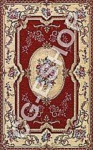 Teppich Klassisch Chenille Wohnzimmer Eingang Rosette 115x 175ro