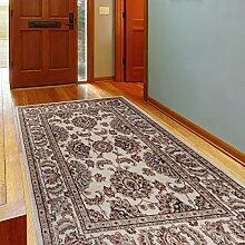 Teppich Klassisch Gemustert Orient Ornamente in Creme Weiß Grau Neuheit (200x300 cm)