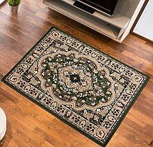 Teppich Klassisch Gemustert Orient Ornamente Oval Muster in Grün (180x250 cm)