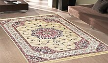 Teppich Klassisch Keshan Teppich Kunst Seide Rubine 317-oro Cm.200x290 gold