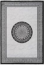 Teppich Klassisch Modern Lurex Glanz Bordüre
