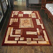 Teppich Klassisch Muster Meliert in Braun TOP Preis - ÖKO TEX (160 x 210 cm)