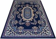 Teppich Klassisch Orientalisch wirtschaftlichen–Teppich Wohnzimmer teppich Möbel Royal Shiraz 2063-blue Cm. 160x230 blau