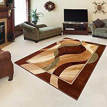 TEPPICH KLASSISCH SEHR BUNT wunderschöne Muster PERFEKT INS WOHNZIMMER in BRAUN (70 cm x 140 cm)