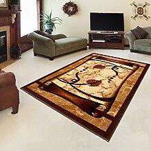 TEPPICH KLASSISCH SEHR BUNT wunderschöne Muster PERFEKT INS WOHNZIMMER in Brown (220 cm x 320 cm)