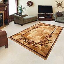 TEPPICH KLASSISCH SEHR BUNT wunderschöne Muster PERFEKT INS WOHNZIMMER in BEIGE (200 cm x 290cm)