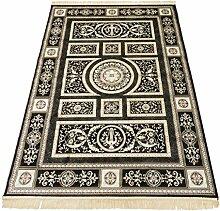 Teppich Klassisch Teppich Wohnzimmermöbel Camera Rubine 350-nero Cm.250x350 schwarz