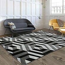 Teppich Kreative Pers5onlichkeit Fashion European Style Sofa Couchtisch Wohnzimmer Schlafzimmer Bedside Rectangle Carpet ( größe : 1.2*1.7m )