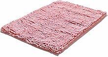 Teppich Küche Bad Anti-Rutsch-Baumwolle Tür Matte (40x60cm, Pink)