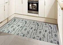 Teppich Küche Flachgewebe mit Schriftzug Coffee